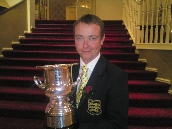 Simon Robinson, winner of the Moc Morgan Trophy